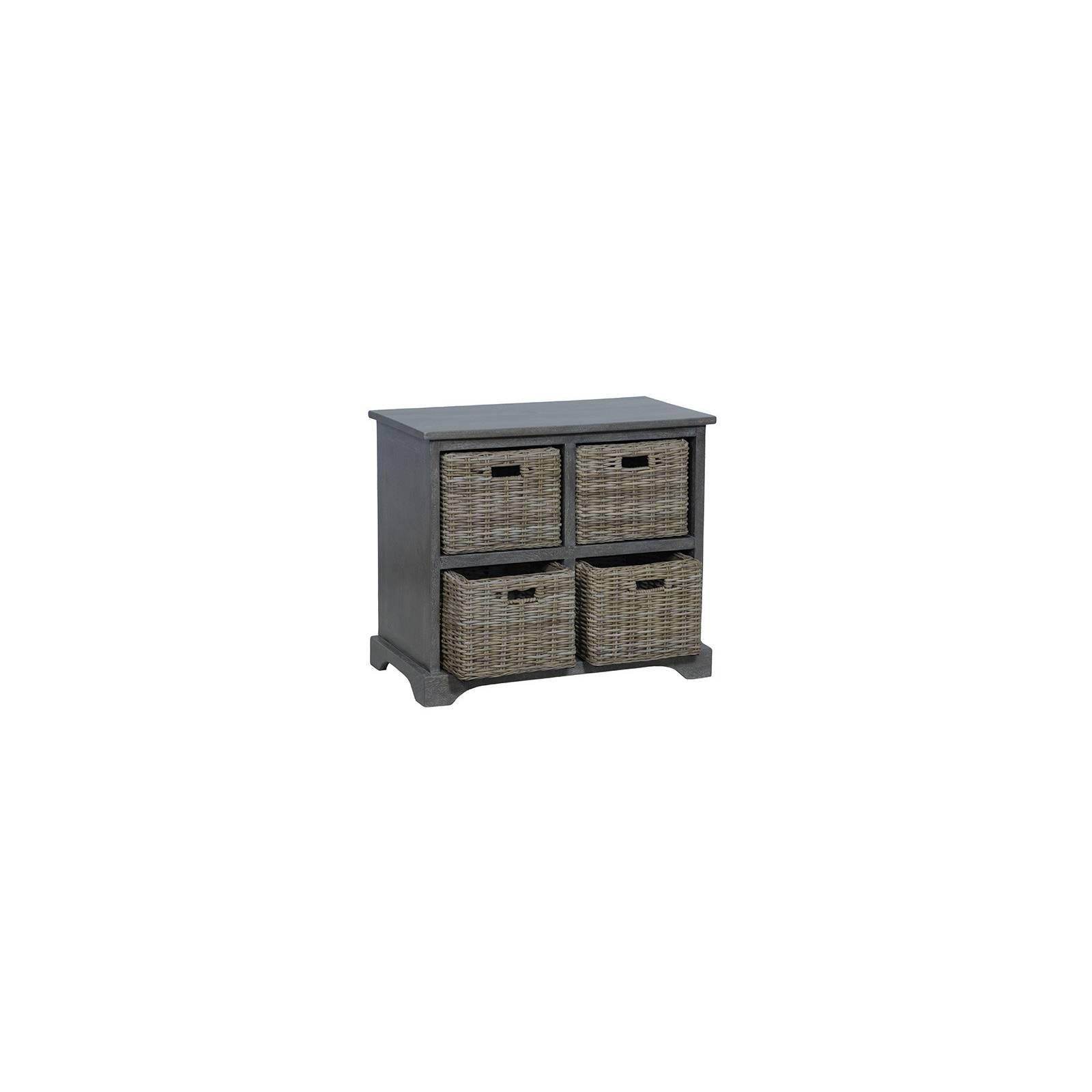 Commode Paniers Bokéo Manguier - meuble bois exotique