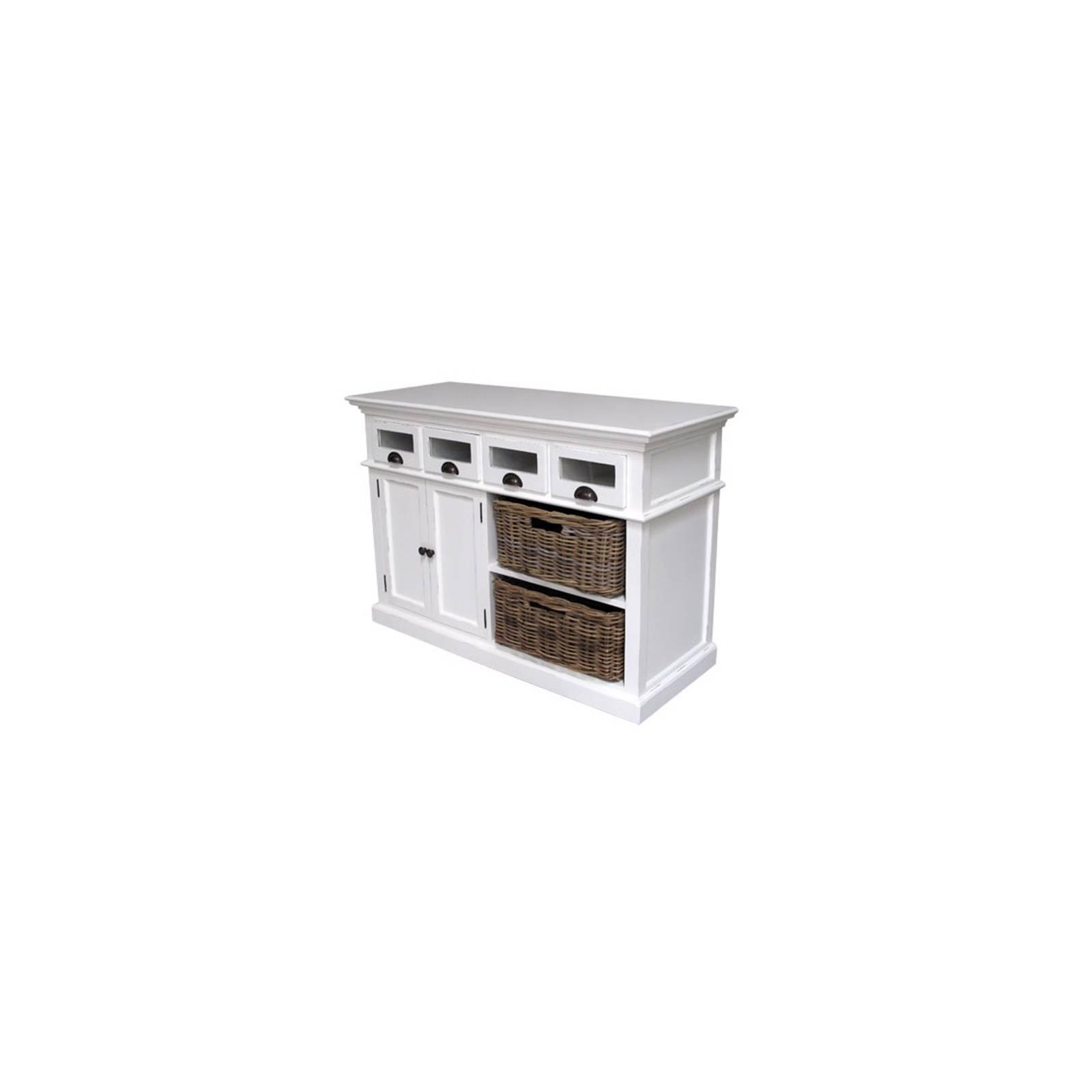 Bahut Paniers Torini Acajou - meuble de rangement salle à manger