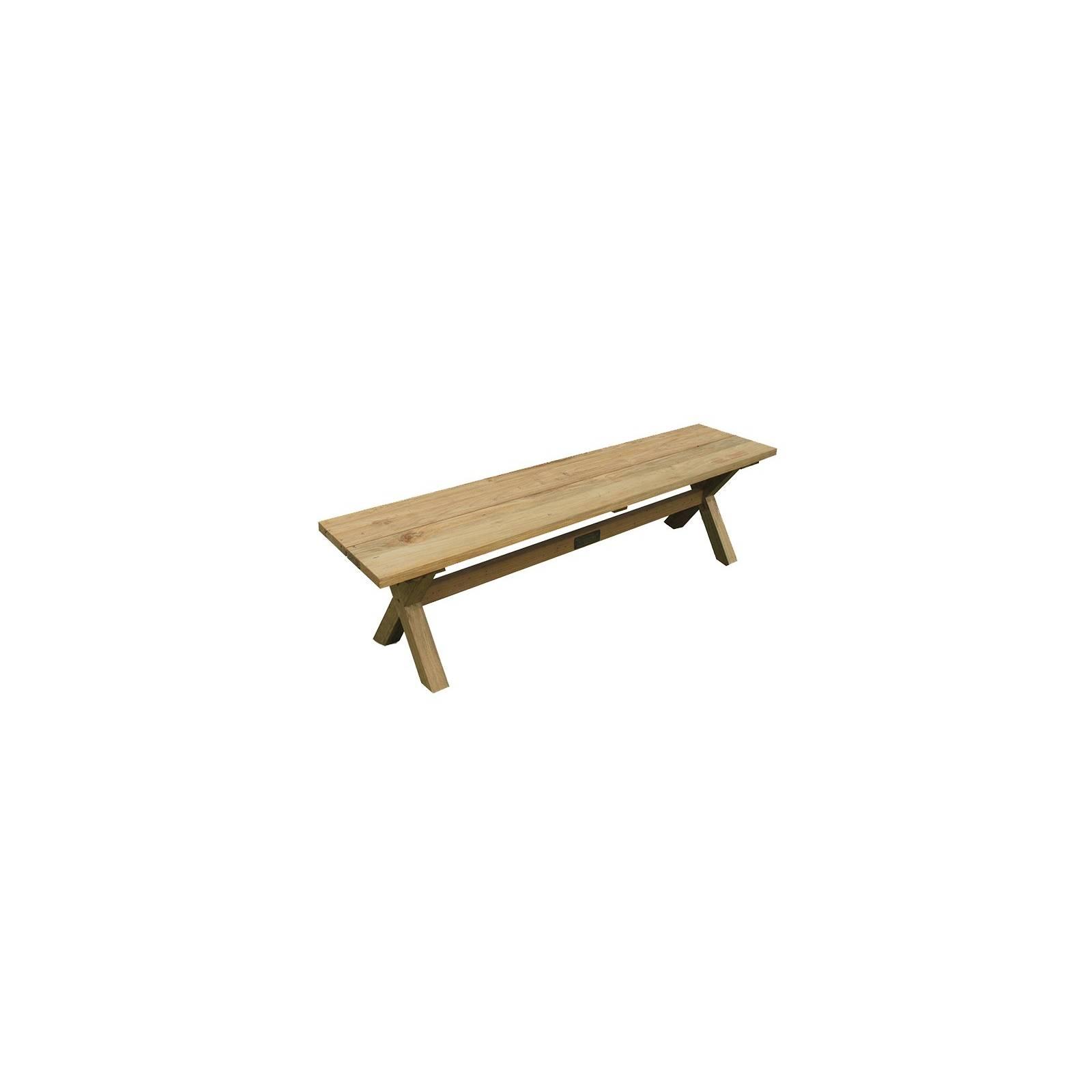 Banc Croisé Greenface Teck Recyclé - achat meuble design