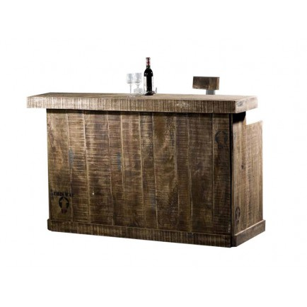 Bar Factory Acacia - meuble style industriel