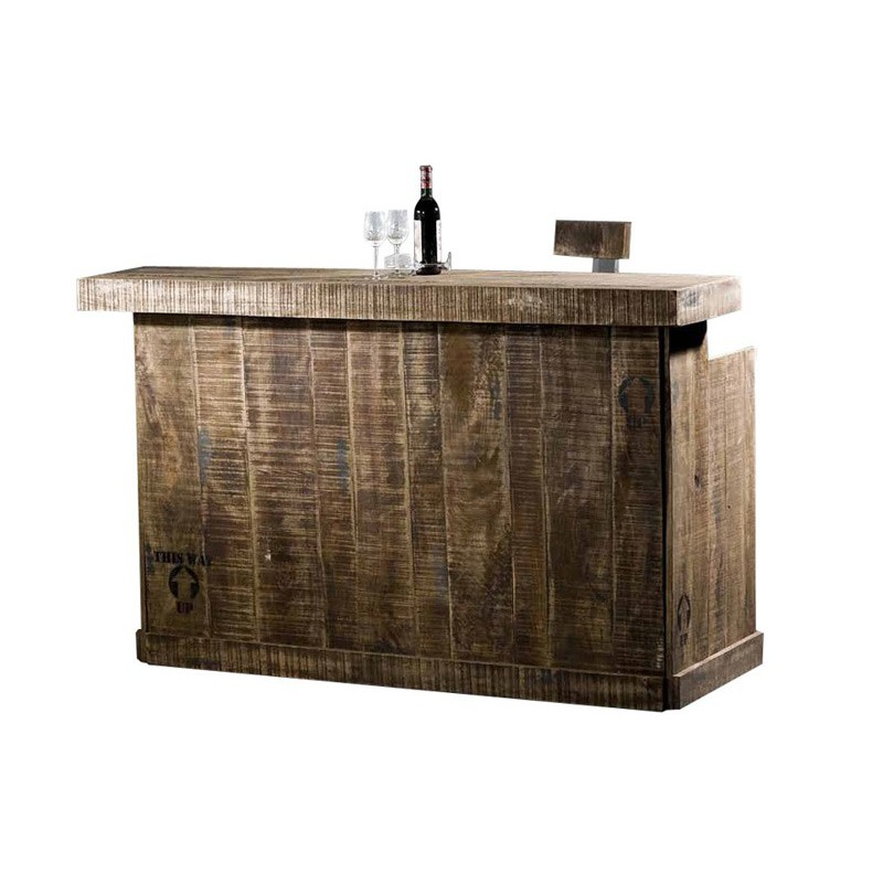 Bar Factory Acacia Meuble Style Industriel