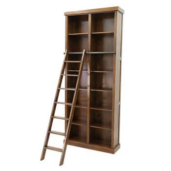 Bibliothèque + Echelle Belle Epoque Hévéa - meuble style classique