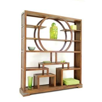 Bibliothèque Cercle Lhassa Palissandre - meuble tendance coloniale
