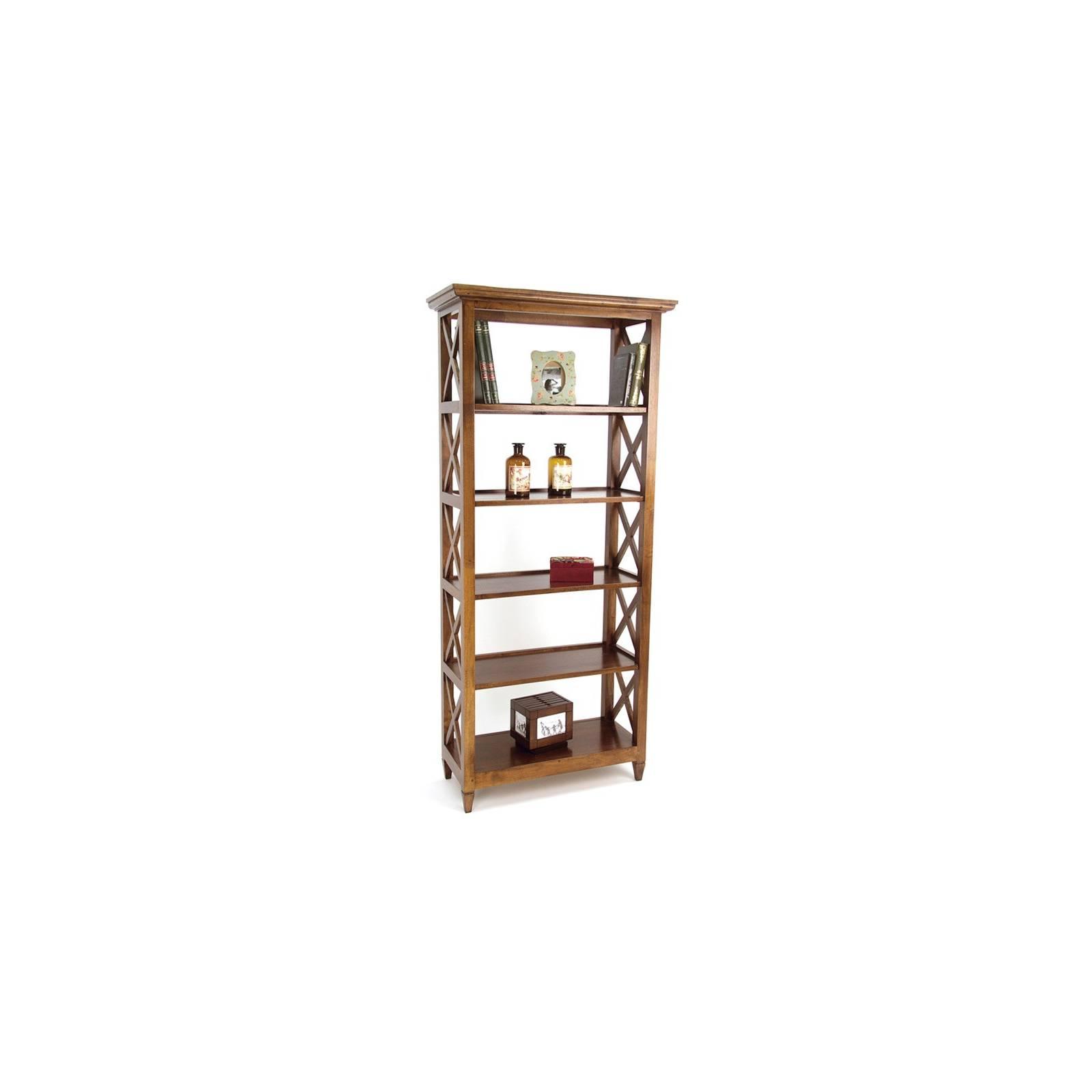 Bibliothèque Croisillon Hévéa - meuble style classique