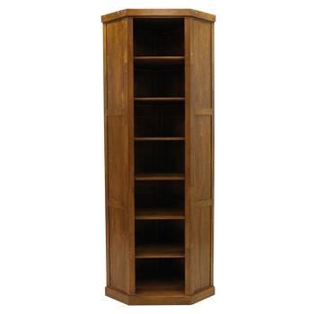 Bibliothèque D'Angle Belle Époque Hévéa - meuble style classique