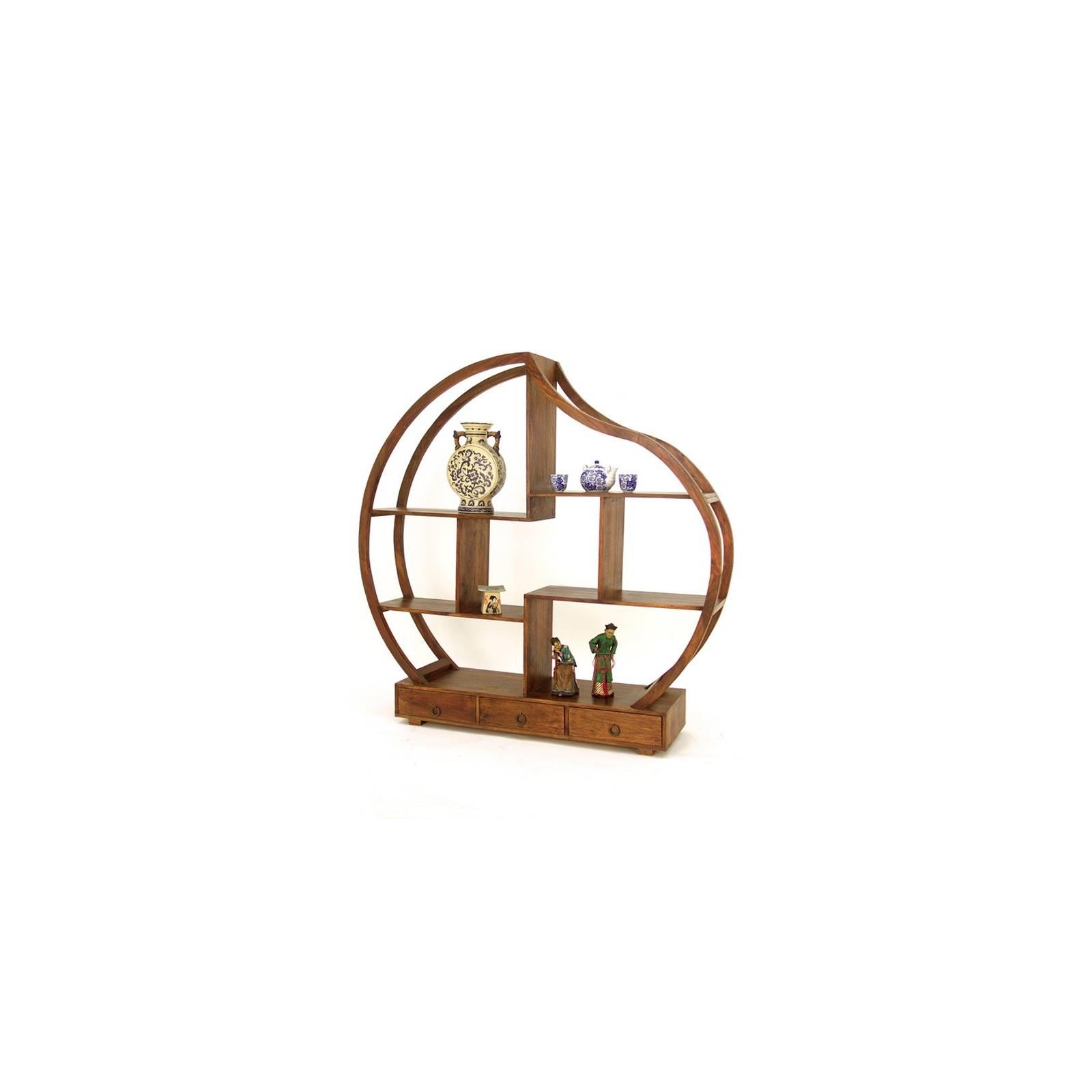 Bibliothèque Déstructurée Double Face Lhassa Palissandre - meuble tendance coloniale