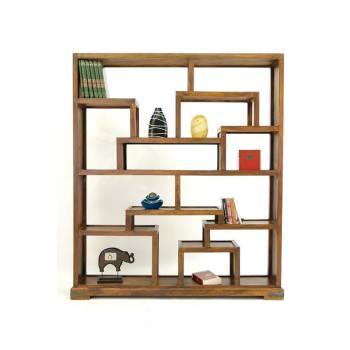 Bibliothèque Asymétrique Lhassa Palissandre - meuble tendance coloniale