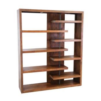 Bibliothèque Déstructurée Zen Palissandre - meubles bois exotique