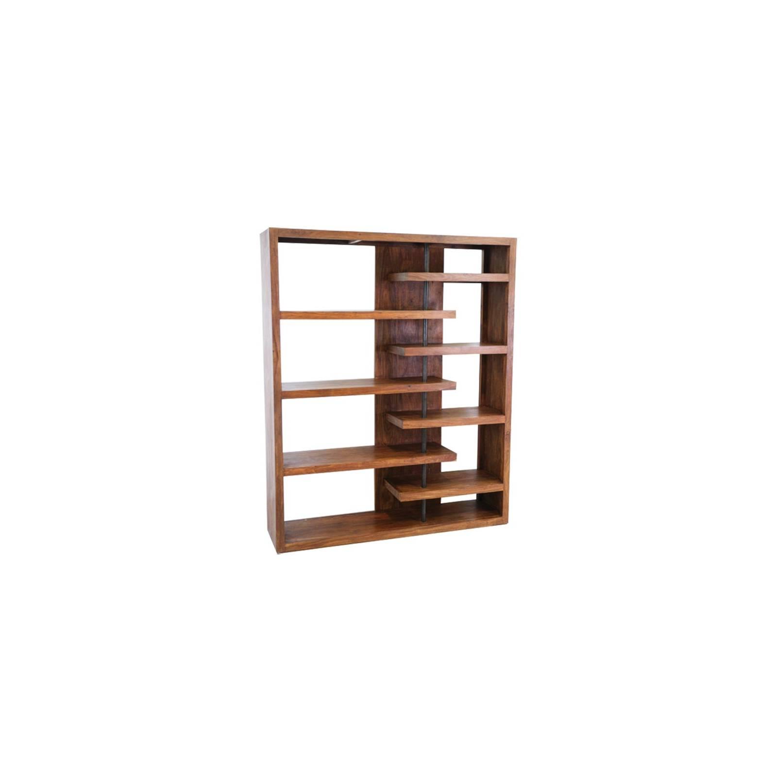 Bibliothèque Déstructurée Palissandre Zen - meubles bois exotique