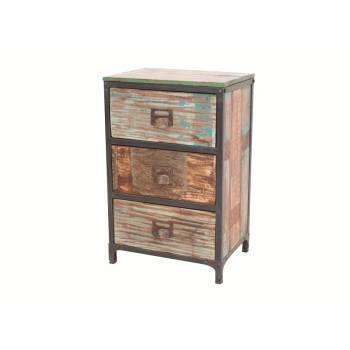 Chiffonnier Butterfly Palissandre - meuble industriel en bois exotique