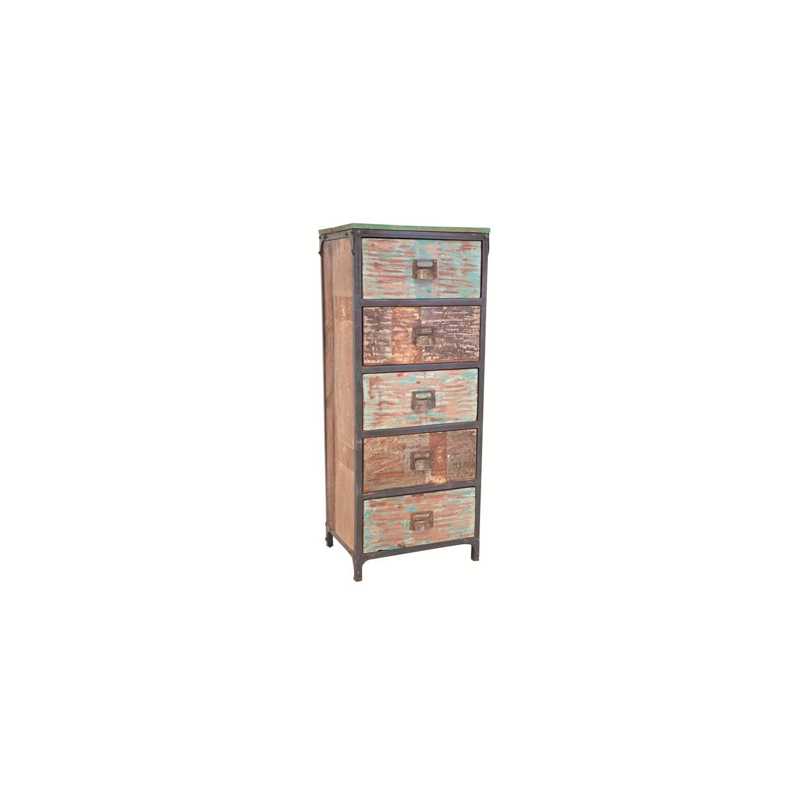 Chiffonnier GM Butterfly Palissandre - meuble industriel en bois exotique