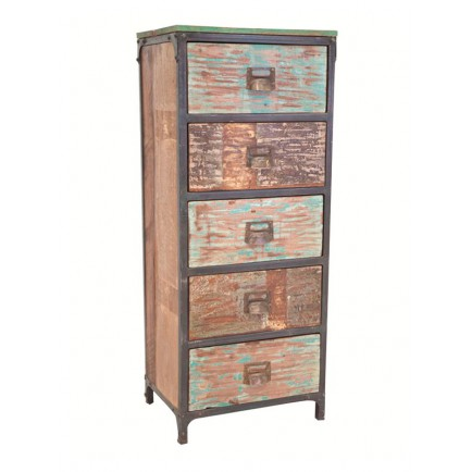 chiffonnier en bois recycl butterfly meuble r cup 39. Black Bedroom Furniture Sets. Home Design Ideas