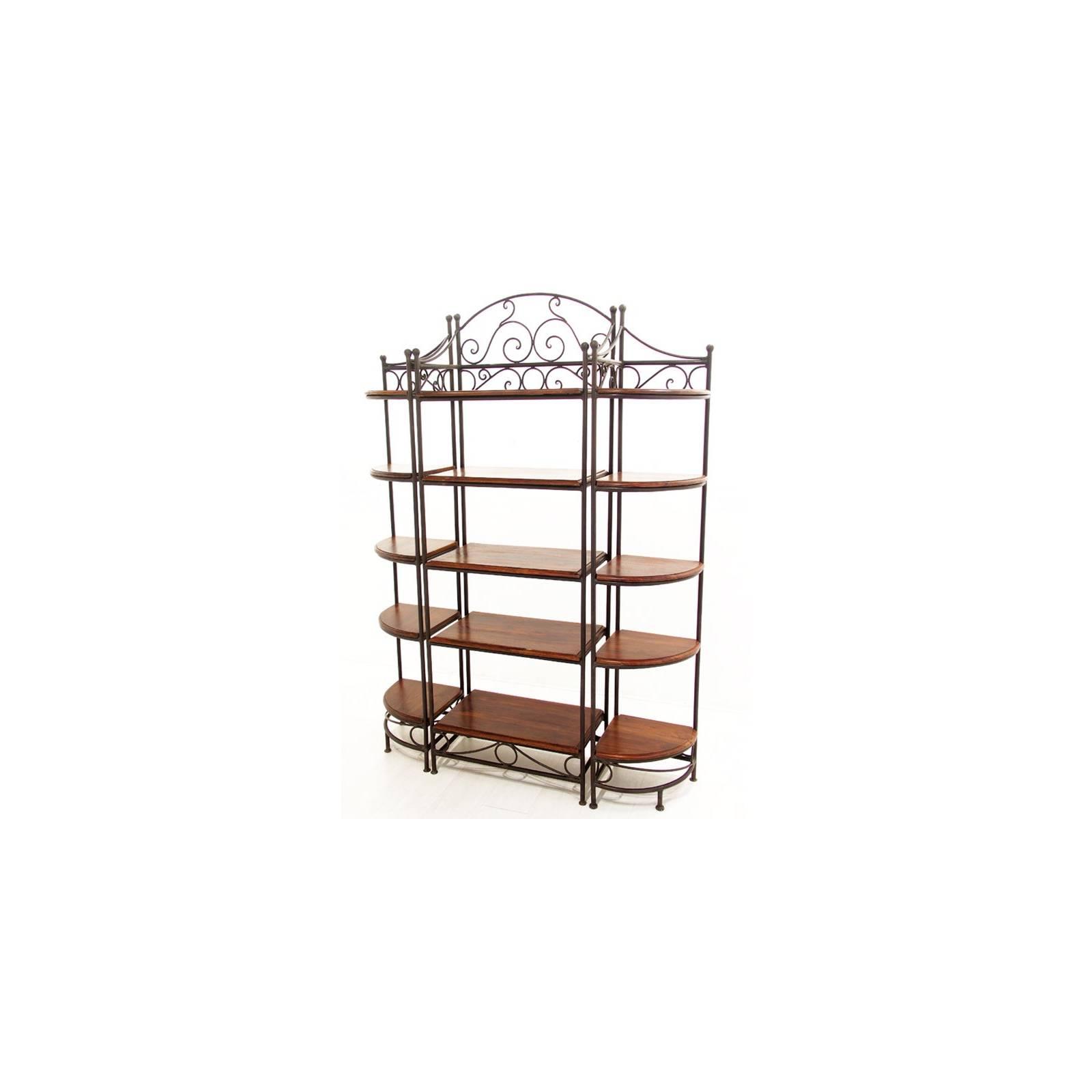Étagère Fer forgé et Palissandre - meuble style romantique
