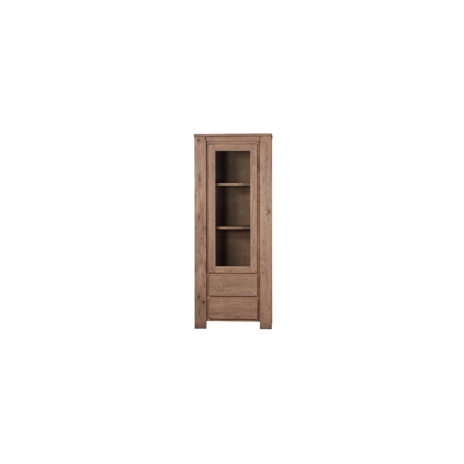 Bibliothèque Vitrée Milena Bruna Chêne - meuble style design