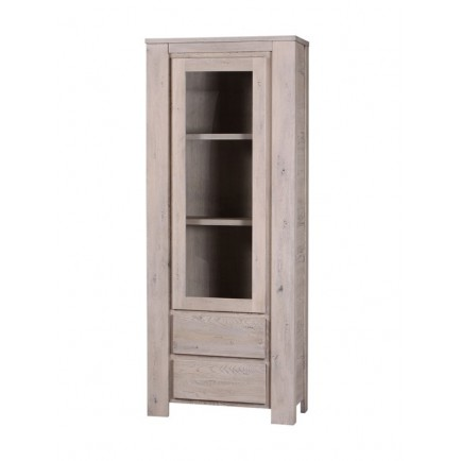 Bibliothèque Vitrée Milena Grigia Chêne - meuble style design