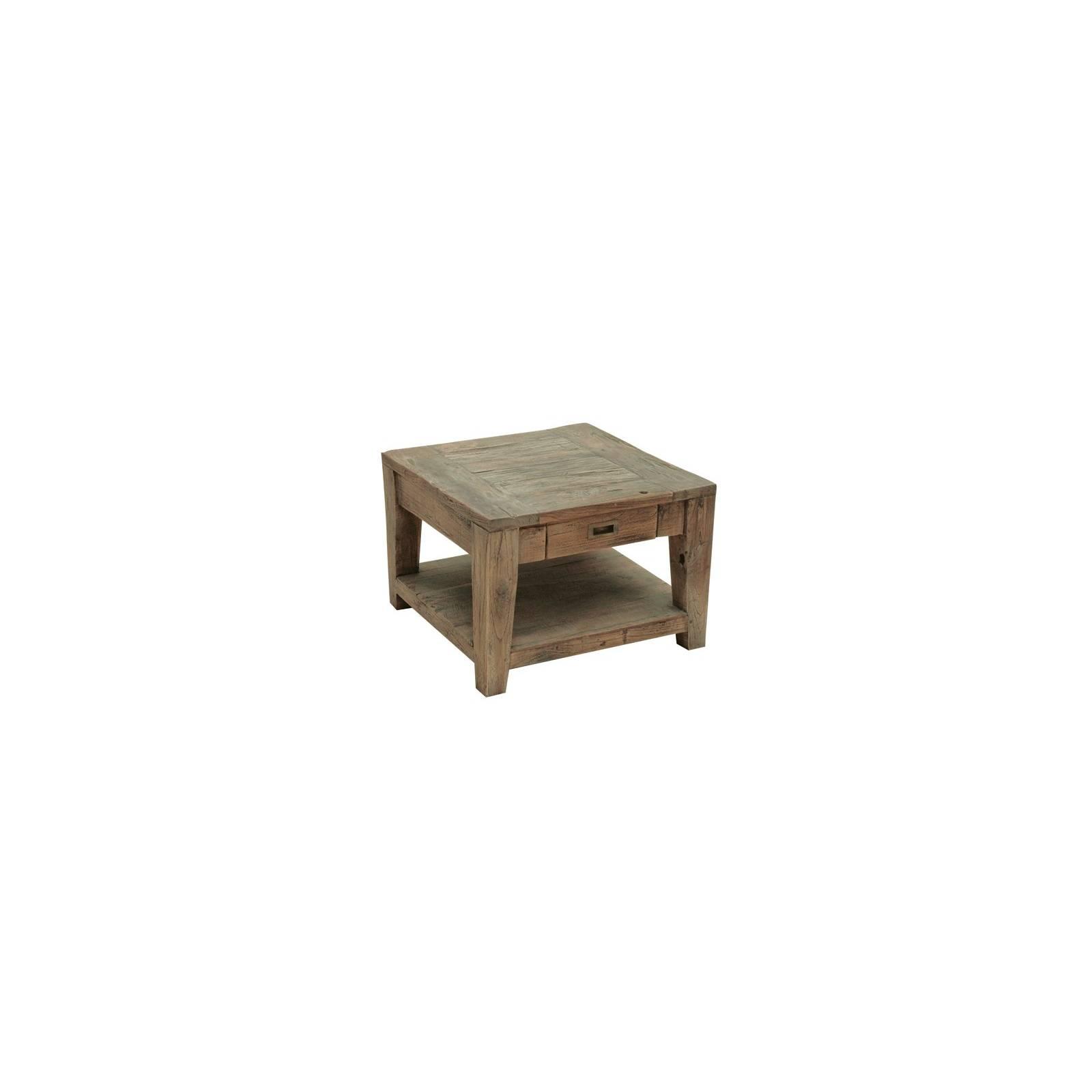 Bout De Canapé Félix Teck Recyclé - meuble bois massif