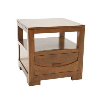 Bout De Canapé Horizon Hévéa - meuble style ethnique
