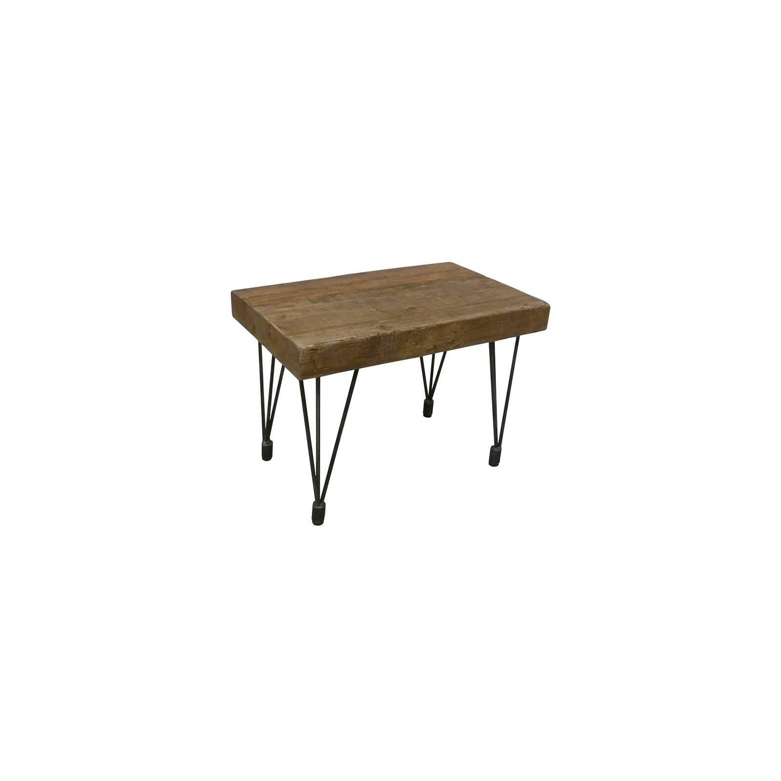 Bout De Canapé Rectangulaire Victor Pin - meuble style rétro