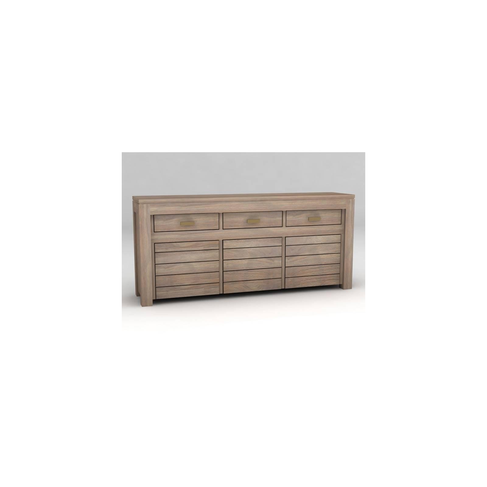 Buffet Cube Teck - meuble bois exotique