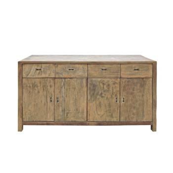 Buffet Bas 200 Felix Teck Recyclé - meuble bois massif