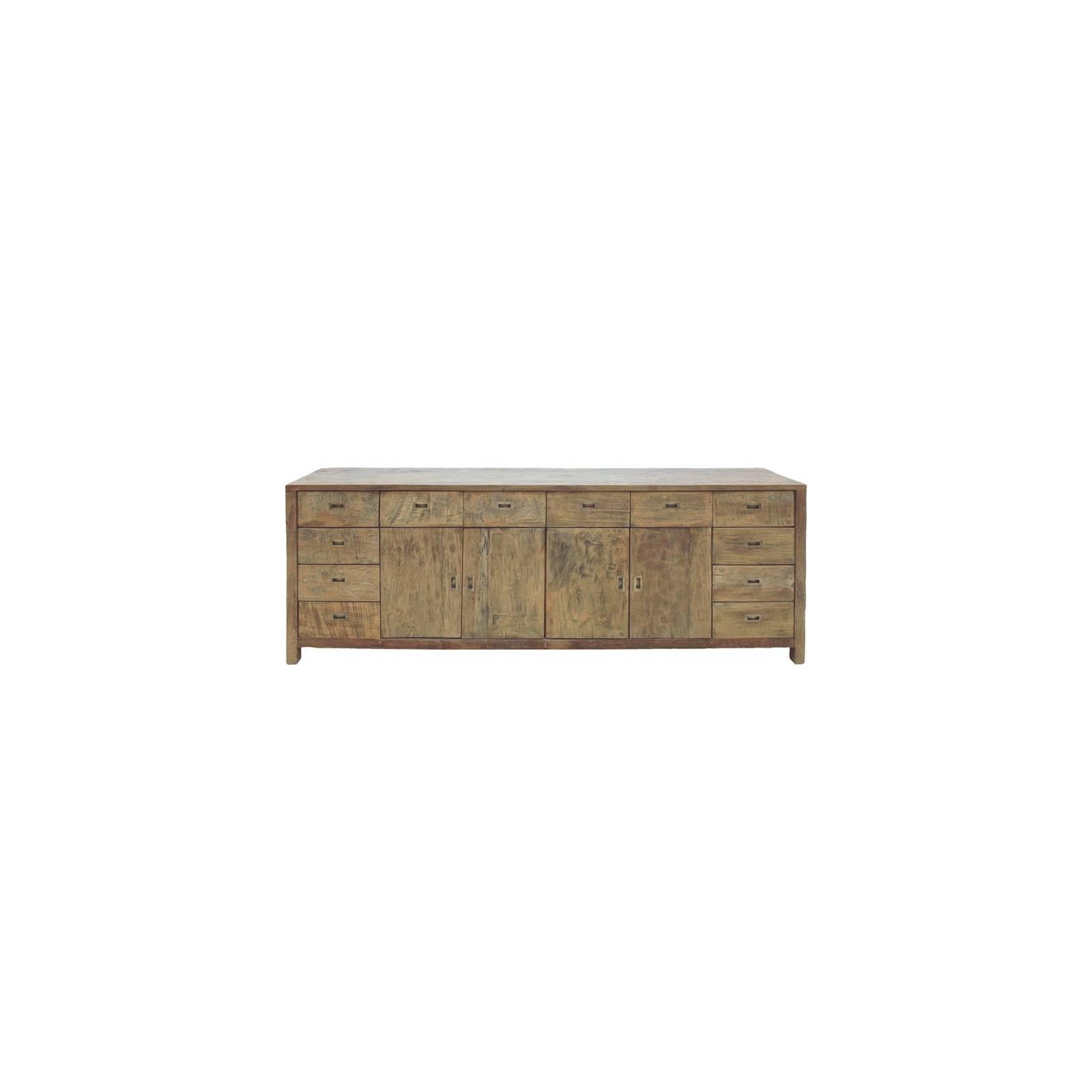 Buffet Bas Felix Teck Recyclé - meuble bois massif