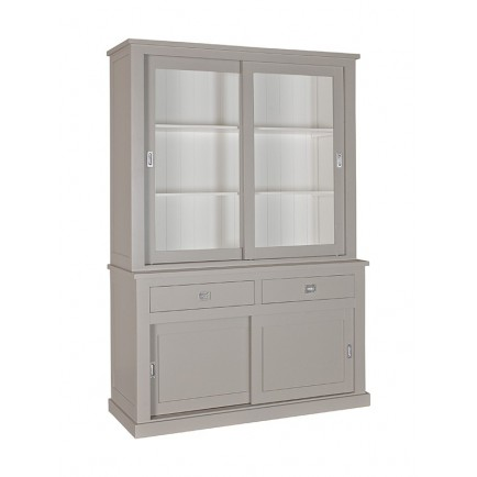 Buffet Deux Corps 2 Portes Coulissantes Victoria Pin Massif - meuble shabby chic
