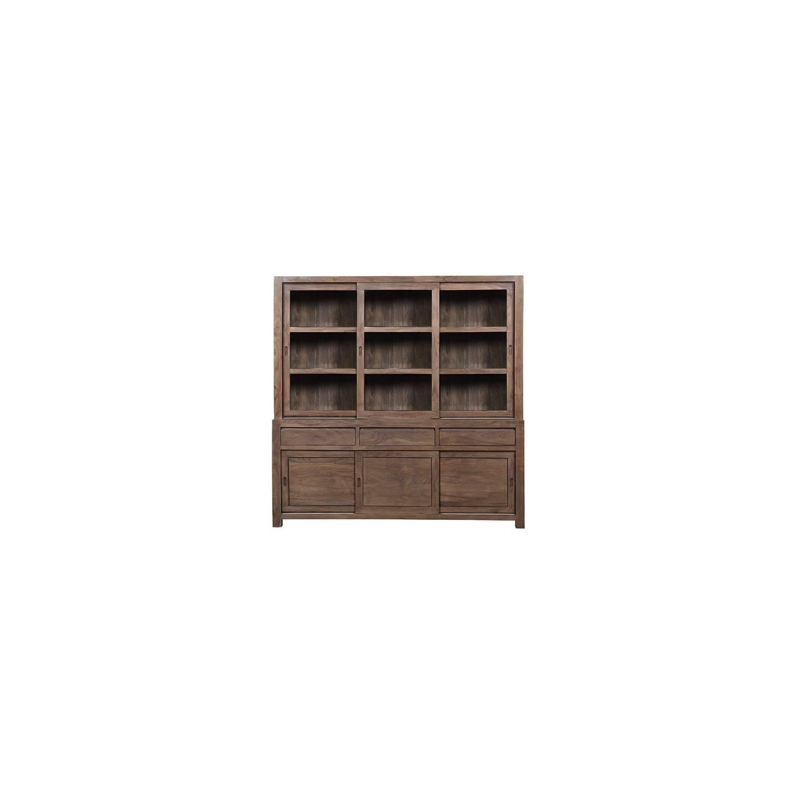 Buffet Vaisselier Tara Grisée Acacia - meuble design haut de gamme