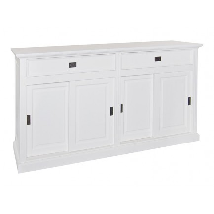 Buffet Portes Coulissantes Victoria Pin Massif - meuble shabby chic