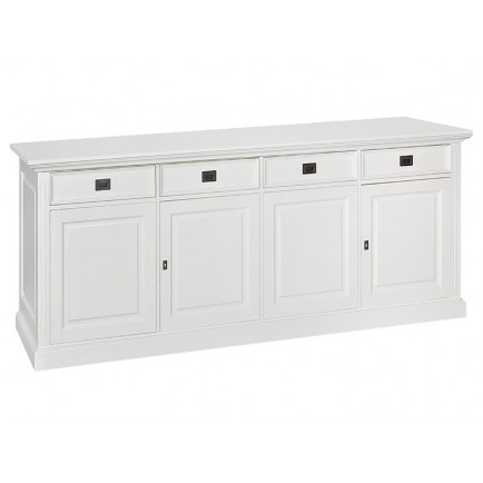 Buffet GM 4 Portes Victoria Pin Massif - meuble shabby chic
