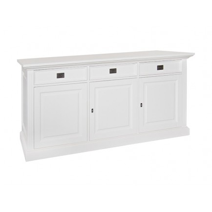 Buffet 3 Portes Victoria Pin Massif - meuble shabby chic