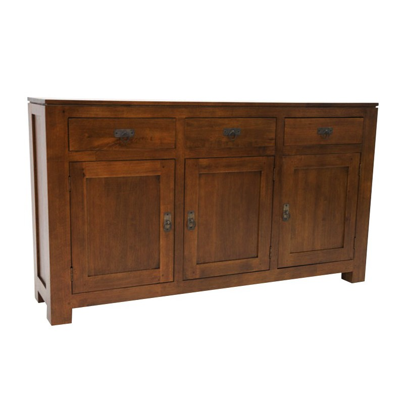 Buffet bas en bois massif style contemporain montr al for Buffet meuble montreal