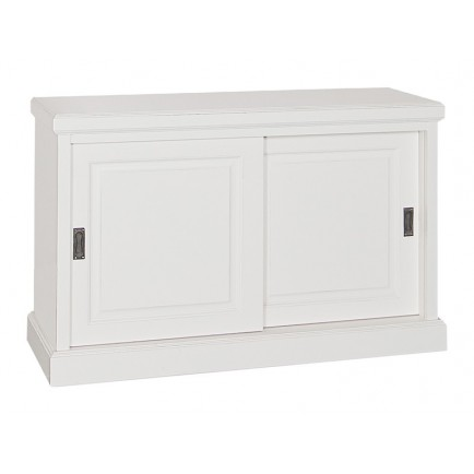 Buffet PM Portes Coulissantes Victoria Pin Massif - meuble shabby chic