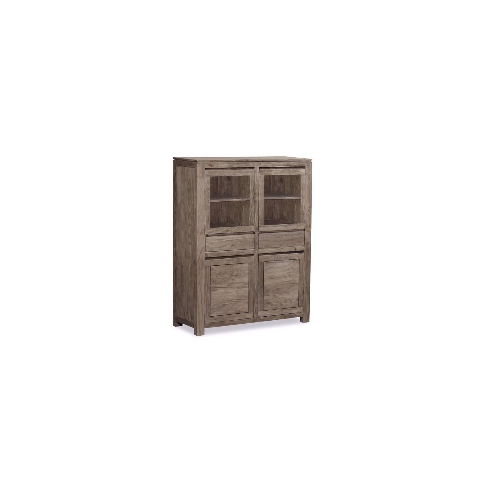 Buffet Haut Tara Grisée Acacia - meuble design haut de gamme