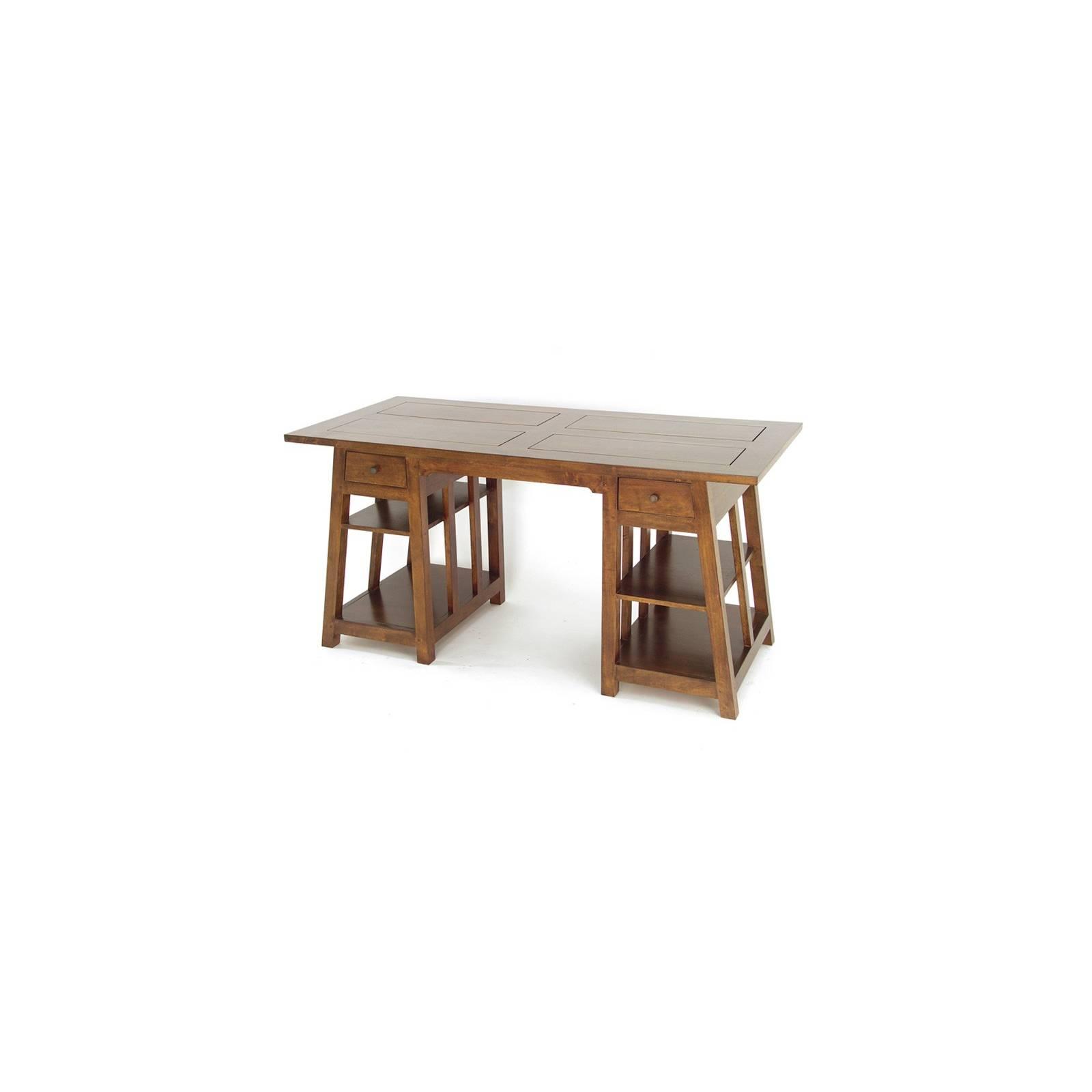 Bureau Tréteaux Omega Hévéa - meuble style design