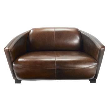 Canapé Club Cigare Cuir Bycast - meuble style classique