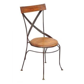 meuble r tro l 39 esprit industriel palissandre et fer forg. Black Bedroom Furniture Sets. Home Design Ideas