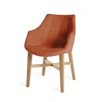 Chaise Orange Accoudoirs Cannes Assise Design