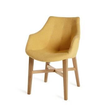 Chaise Cannes Accoudoirs Soleil Tissu - chaise design