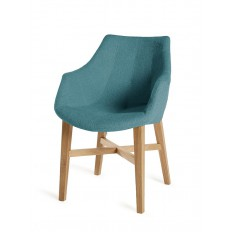Chaise Cannes Accoudoirs Turquoise Tissu - chaise design