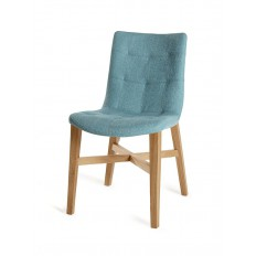 Chaise Cannes Turquoise Tissu - chaise design