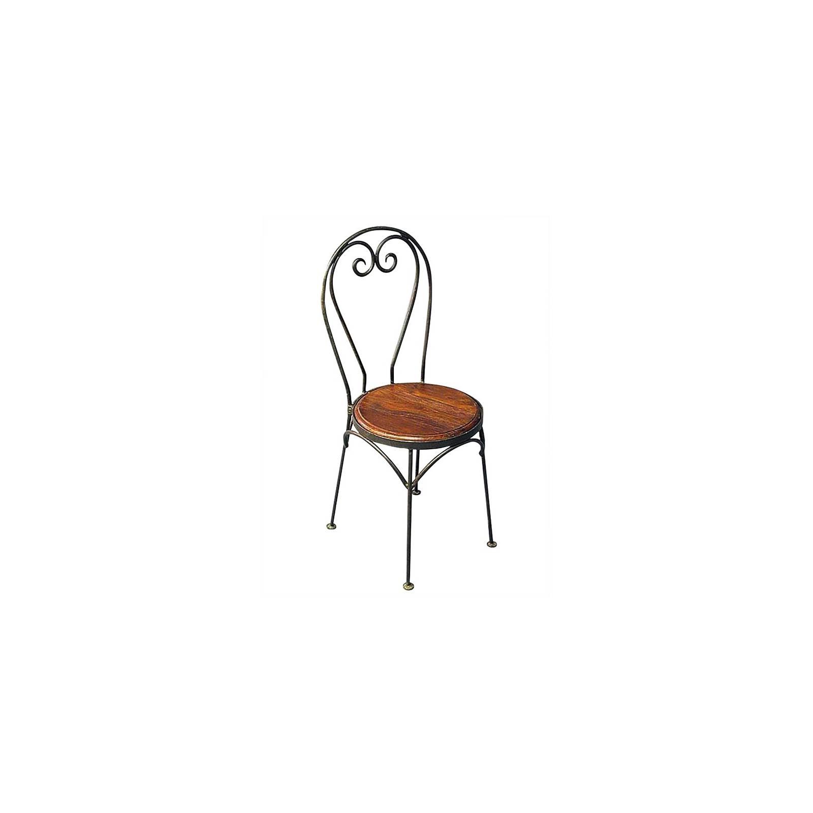 Chaise Coeur Fer forgé et Palissandre - meuble style romantique