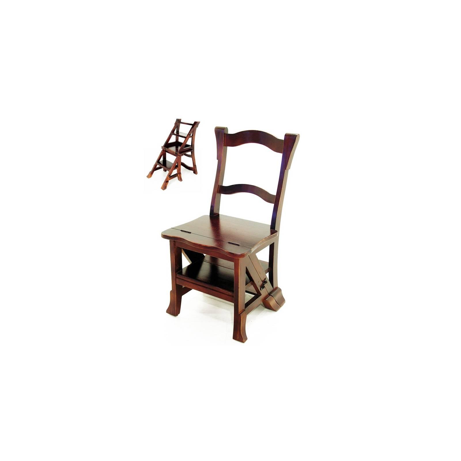 Chaise Escabeau Tradition Hévéa - meuble style classique