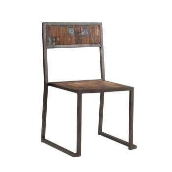 Chaise Isis Teck Recyclé - meuble bois massif