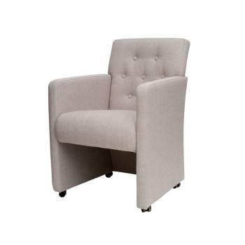 Chaise à roulettes Jersey Tissu