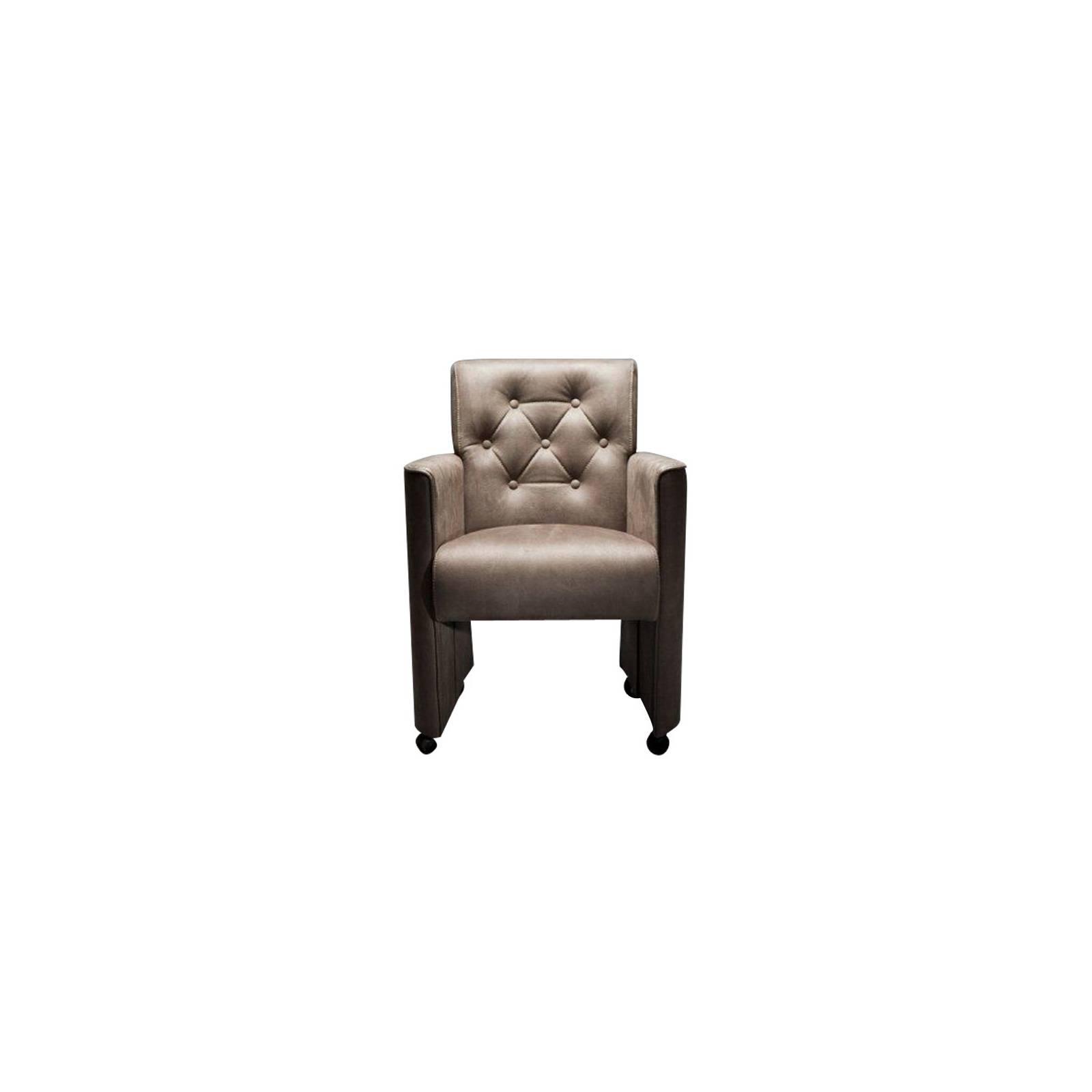 Chaise Leonor Sur Roulettes Tissu - achat chaises sur roulettes