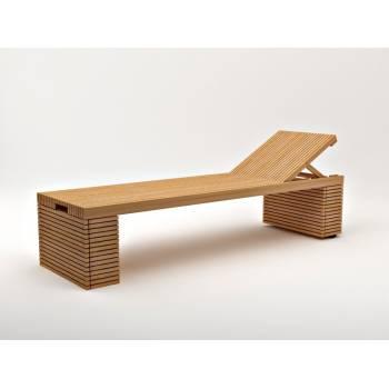 Chaise Longue Vicio Teck - meuble de jardin