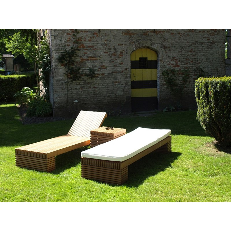 chaise longue vicio en teck massif meuble de jardin. Black Bedroom Furniture Sets. Home Design Ideas