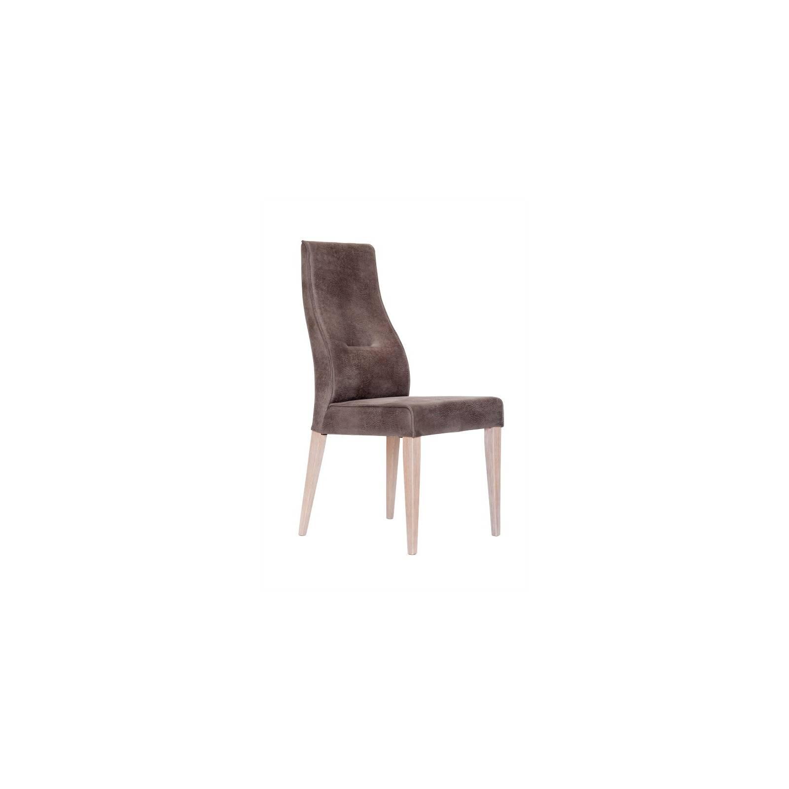 Chaise Milan Gris Perle Cuir - chaise design