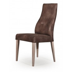 Chaise Milan Marron Cuir