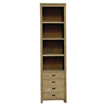 Colonne Bibliothèque Felix Teck Recyclé - meuble bois massif